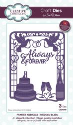 CED4340 Creative Expressions Dies by Sue Wilson Frames & Tags Collection - Wedded Bliss